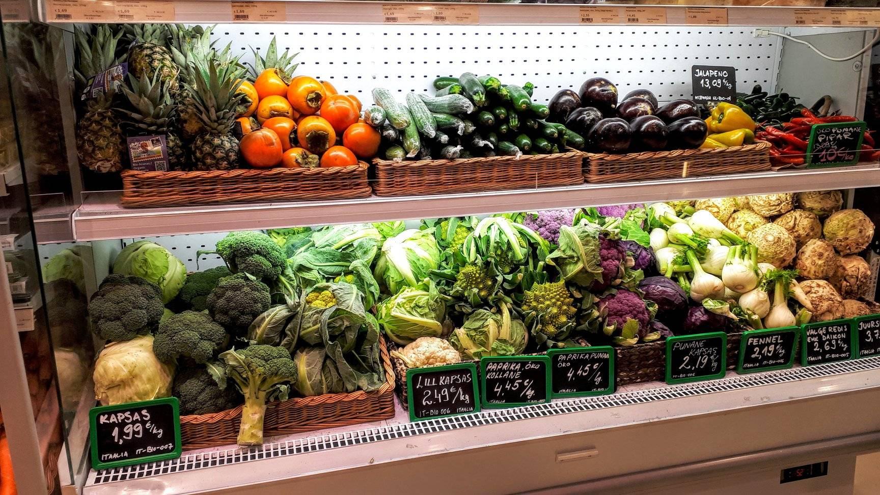 Biomarket Kaubamaja in Tallinn,Estonia
