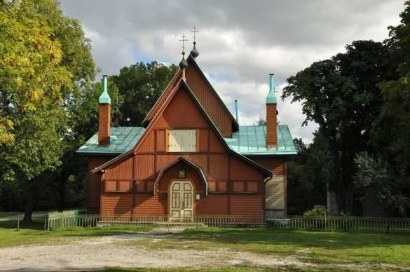 External view of the Church of Saint Nicholas ((Kopli) in Tallinn, Estonia.