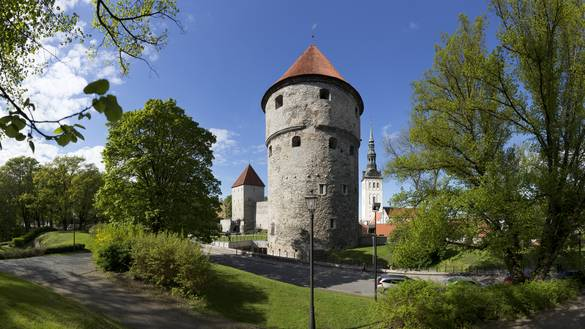 External view of the Kiek in de Kök Fortifications Museum in the Old Town of Tallinn, Estonia