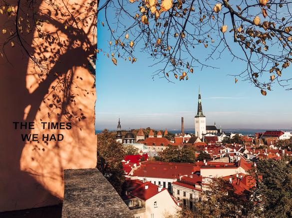 A colourful autumn view of Tallinn from one of the viewing platforms on Toompea.