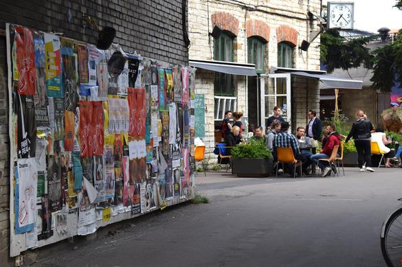 External view of the F-Hoone restaurant in the Telliskivi Creative City (Telliskivi Loomelinnak) in the Kalamaja area of Tallinn, Estonia.