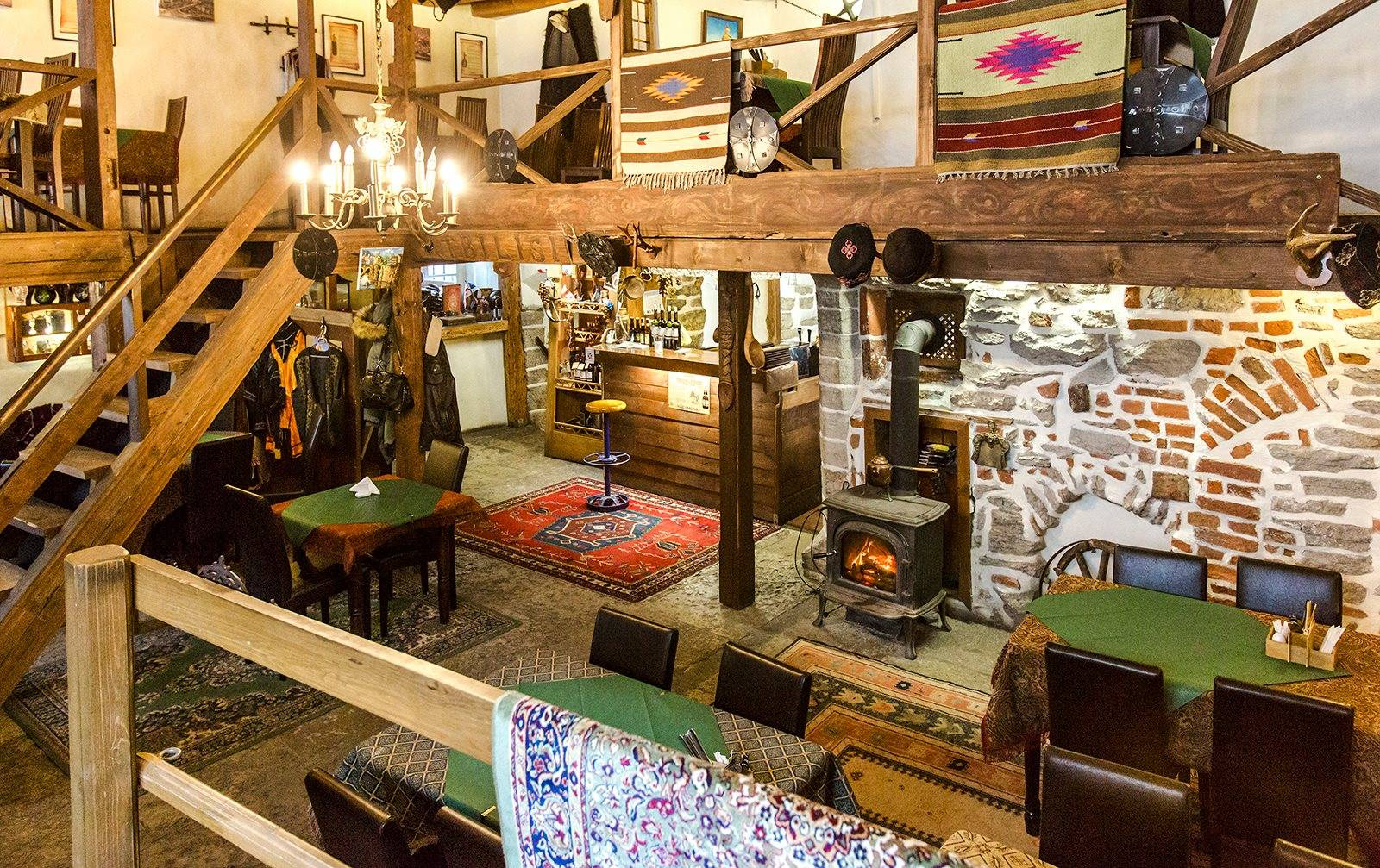 Interior of the Georgian Tavern Tbilisi in the Old Town of Tallinn, Estonia
