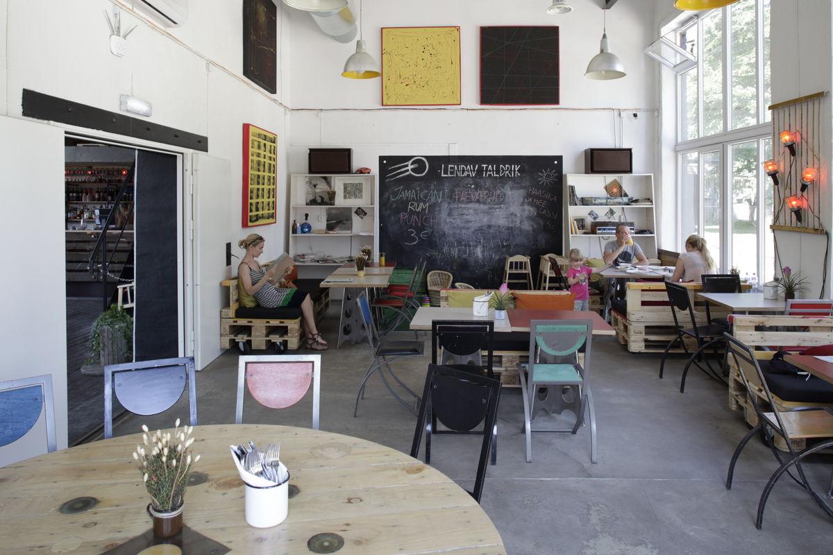 Cafe Lendav Taldrik at the Telliskivi Creative City in Tallinn, Estonia