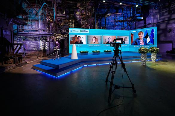 Virtual conference stage at Tallinn Creative Hub