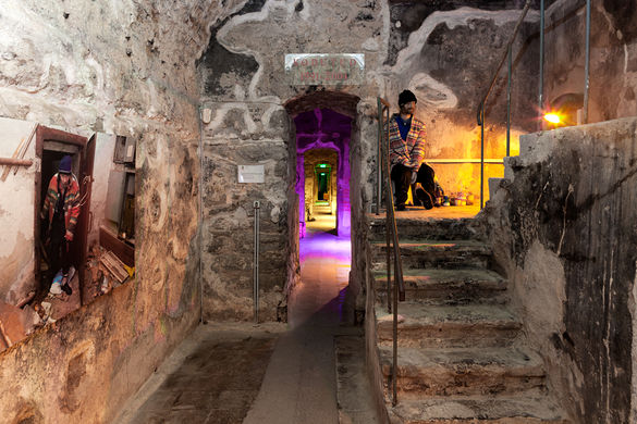 Interior view of the Bastion Passages in the Old Town of Tallinn, Estonia.