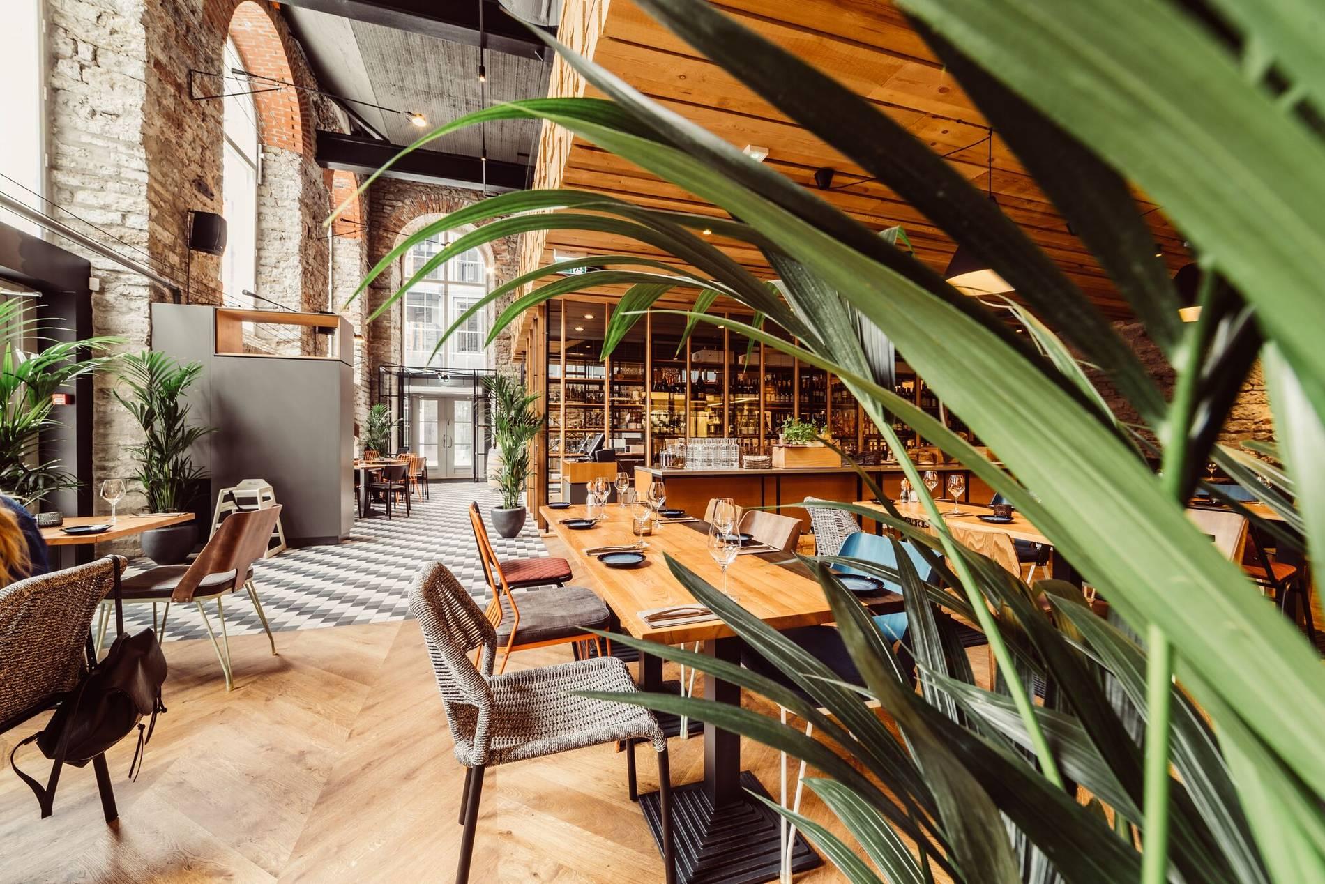 Restaurant R14 interior in Tallinn, Estonia