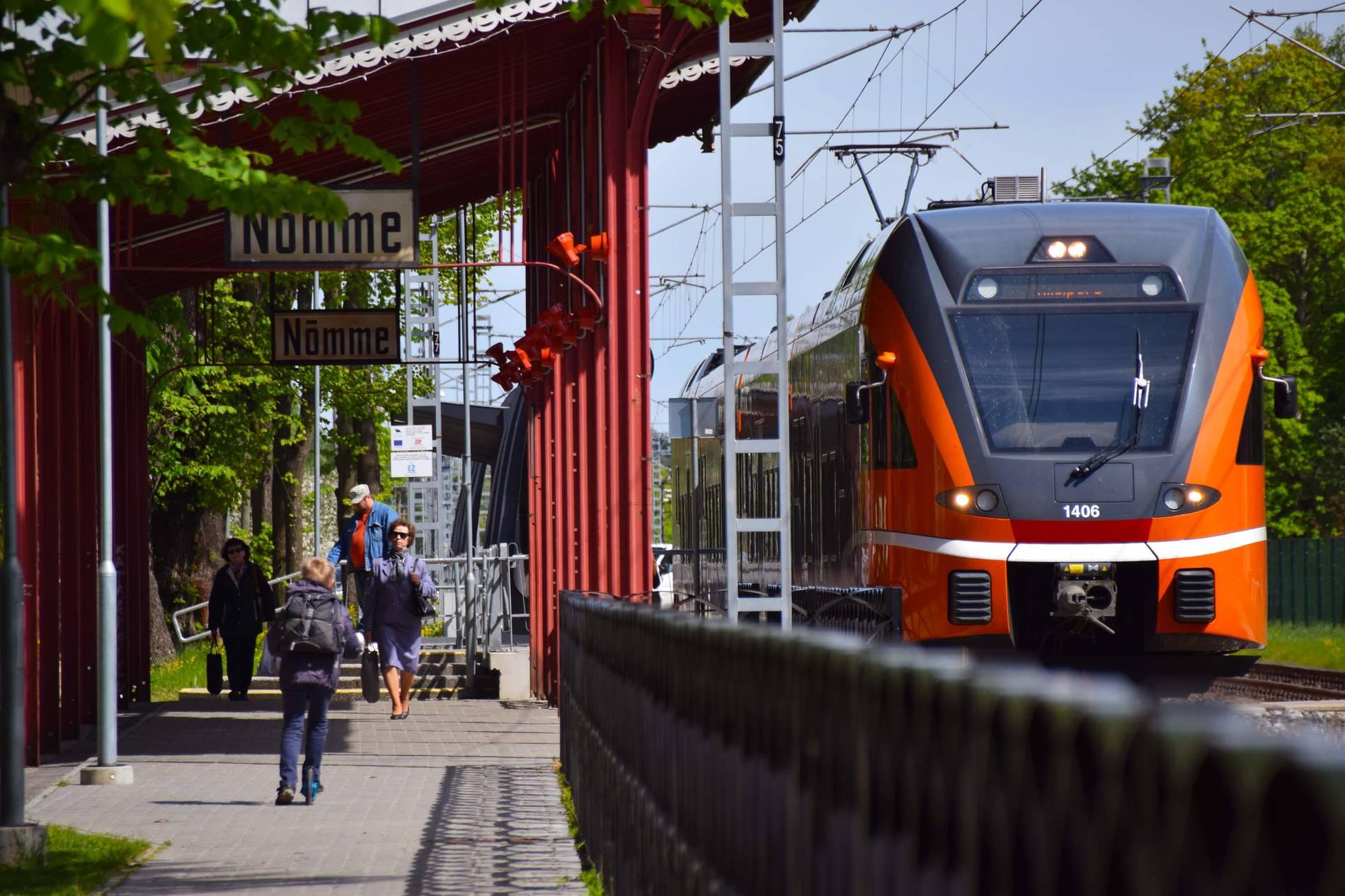 Railway station of Nõmme in Tallinn, Estonia
