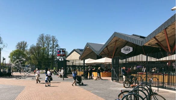 External view of the Balti Jaam Market in Tallinn, Estonia