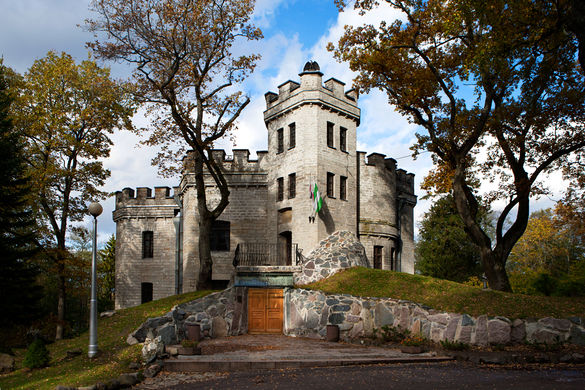External view of the Glehn's Castle in Nõmme, Tallinn, Estonia.