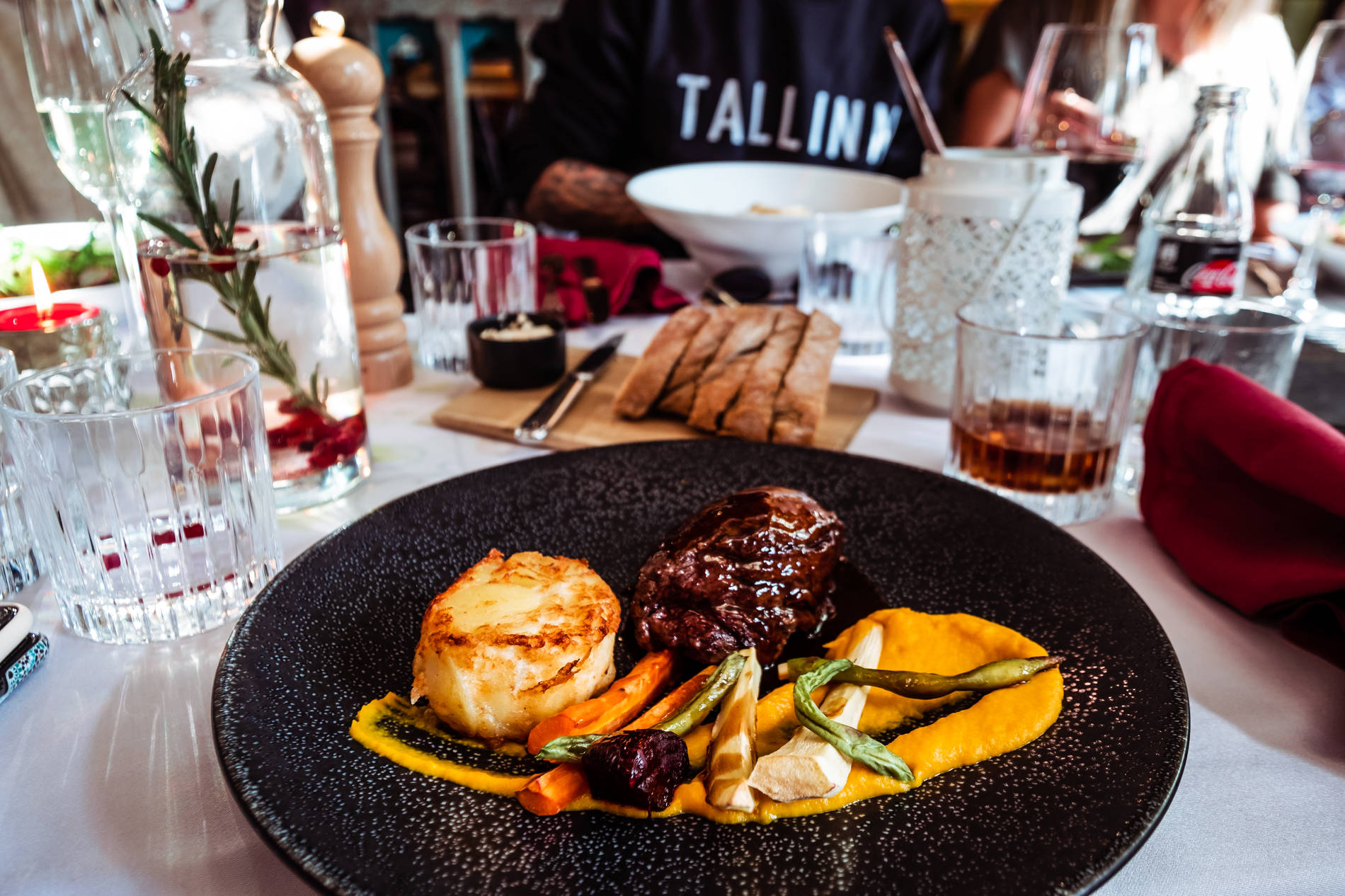 A plate of food in Tallinn, Estonia