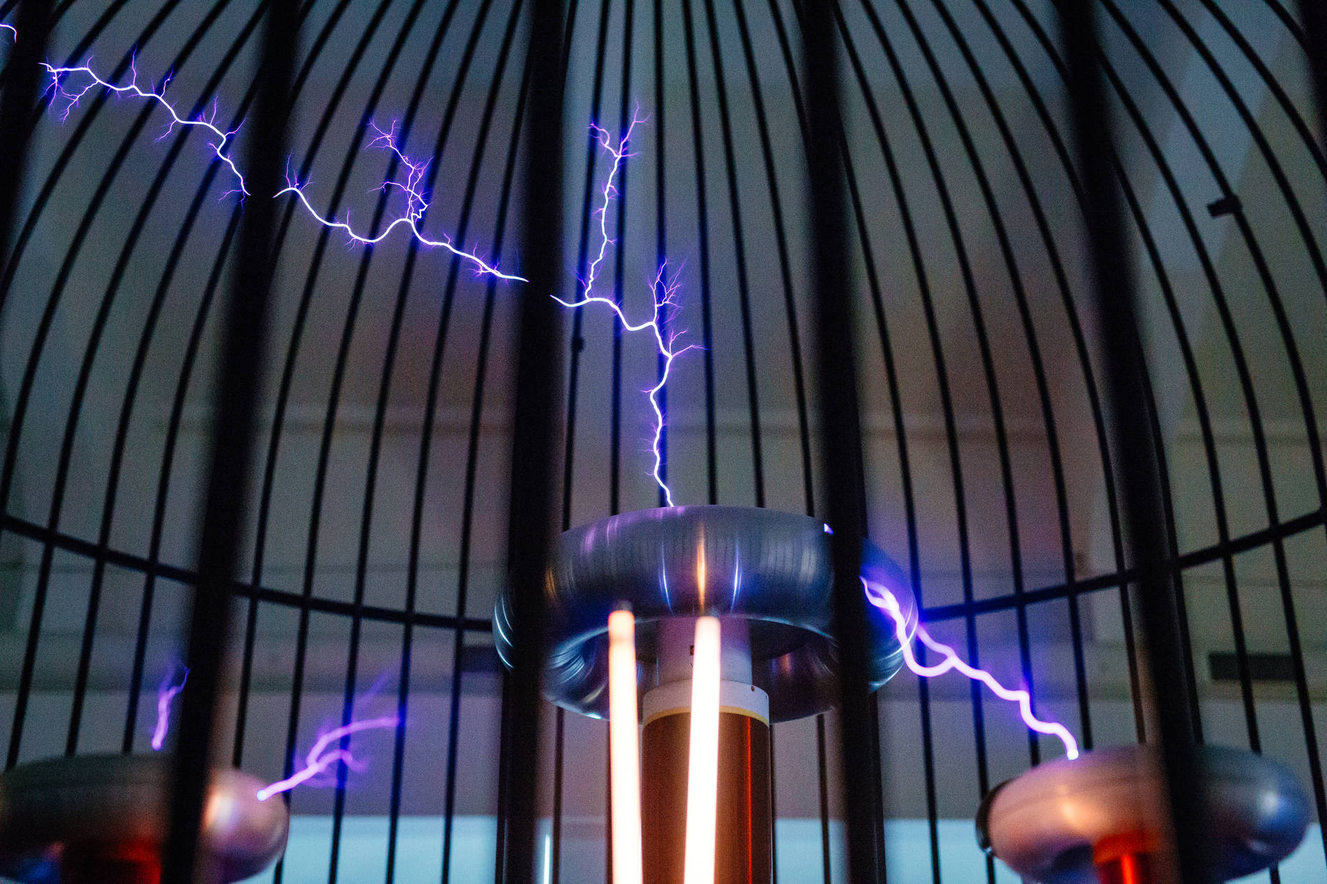 Electric flash at the Energy Discovery Centre in Tallinn, Estonia