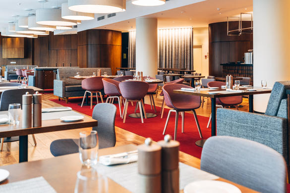 Internal view of the restaurant The Quarter located in the city center of Tallinn, Estonia.