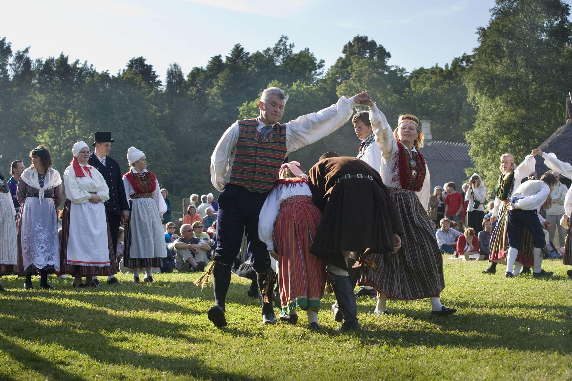 Estonian folk dancers