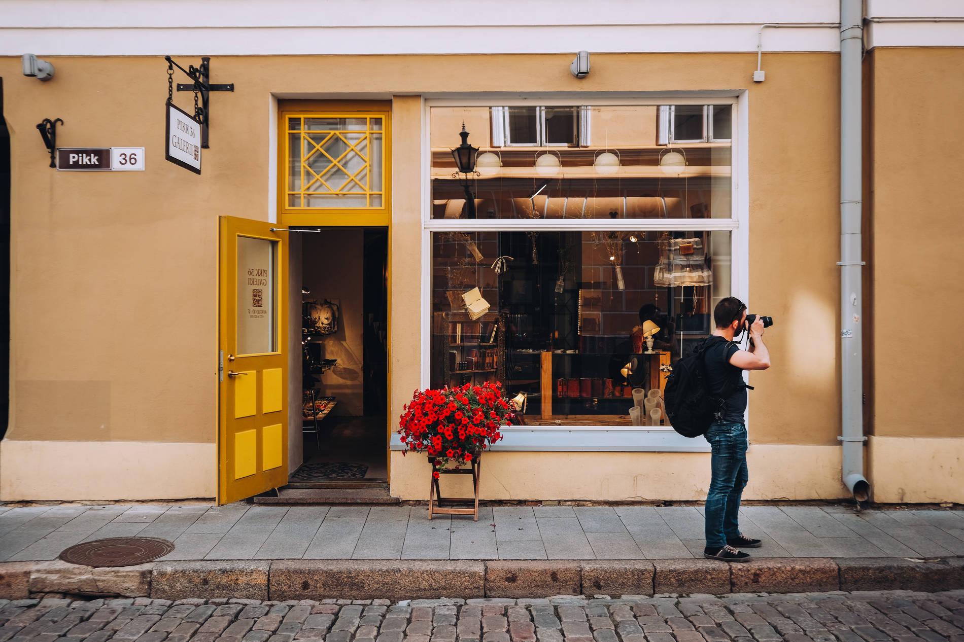 A shopfront in the Old Town of Tallinn, Estonia