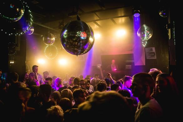 Nightclub event in the Club Studio in Tallinn, Estonia.