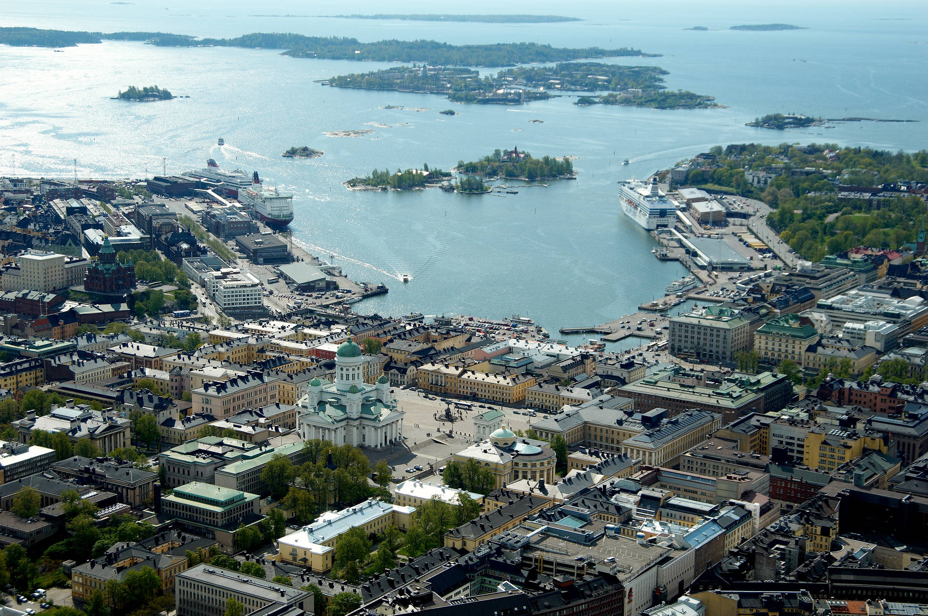 Aerial view of Helsinki, Finland