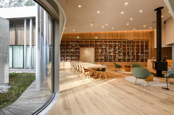 Interior view of the Arvo Pärt Centre in Estonia.