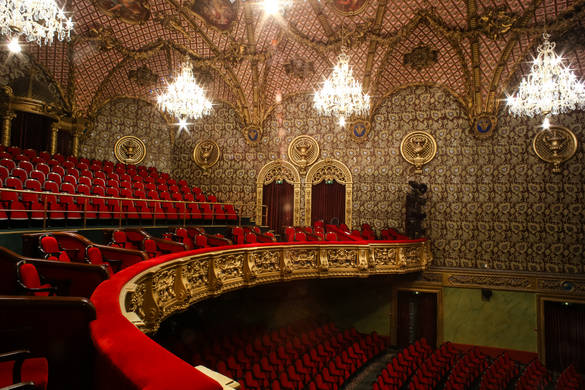 Interior view of the Russian Theatre in Tallinn, Estonia.