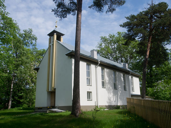 External view of the Nõmme Saviour´s Lutheran Church in Tallinn, Estonia.