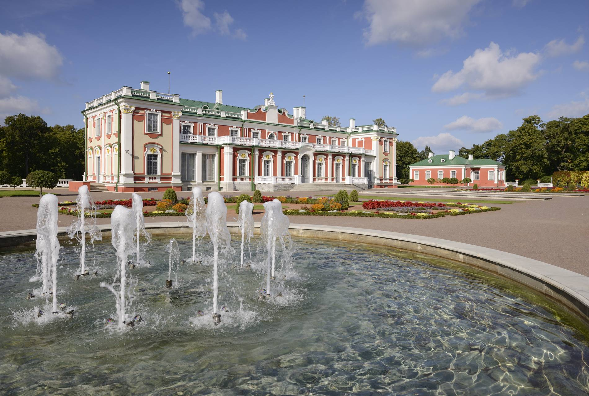External view of the Kadriorg Palace - Kadriorg Art Museum in Tallinn, Estonia