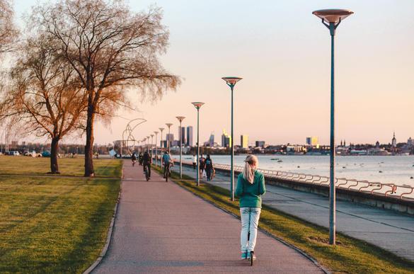 Piritan rantatie Tallinnassa Virossa.