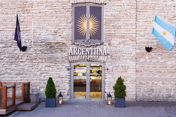 External view of the Argentiina restaurant in Tallinn, Estonia.