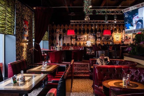 Internal view of the Mack Bar-B-Que restaurant in the city center of Tallinn, Estonia.