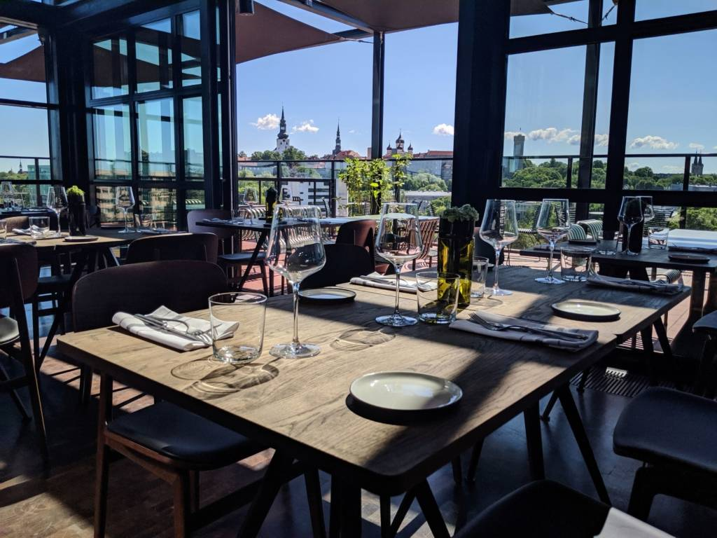 Interior of the Fotografiska Restaurant & Rooftop Garden in the Telliskivi Creative City in Tallinn, Estonia