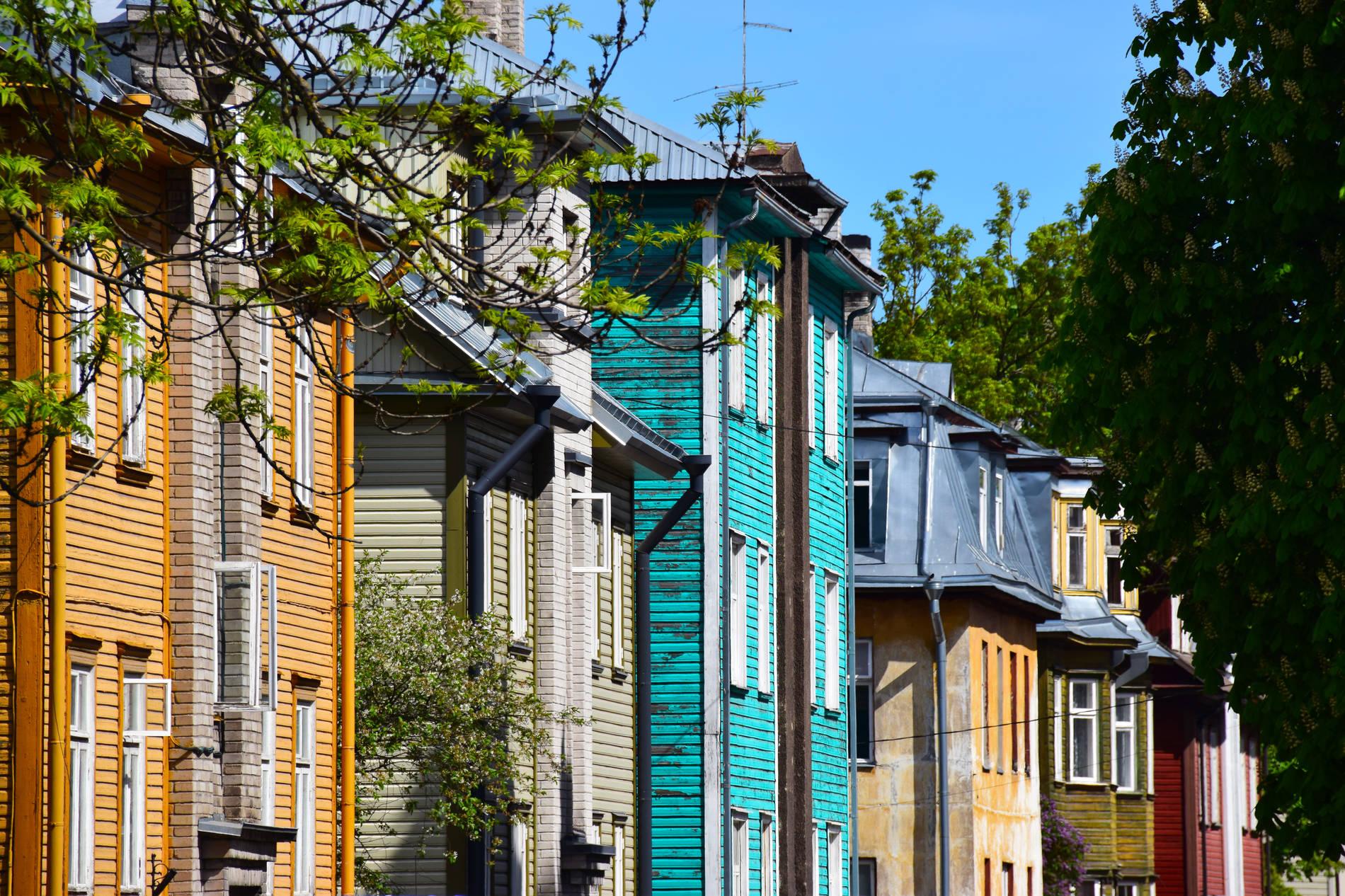 Houses of Kalamaja in Tallinn, Estonia