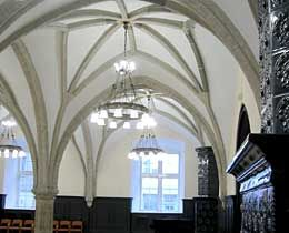 Interior view to the St. Olav's Guild in Tallinn, Estonia.